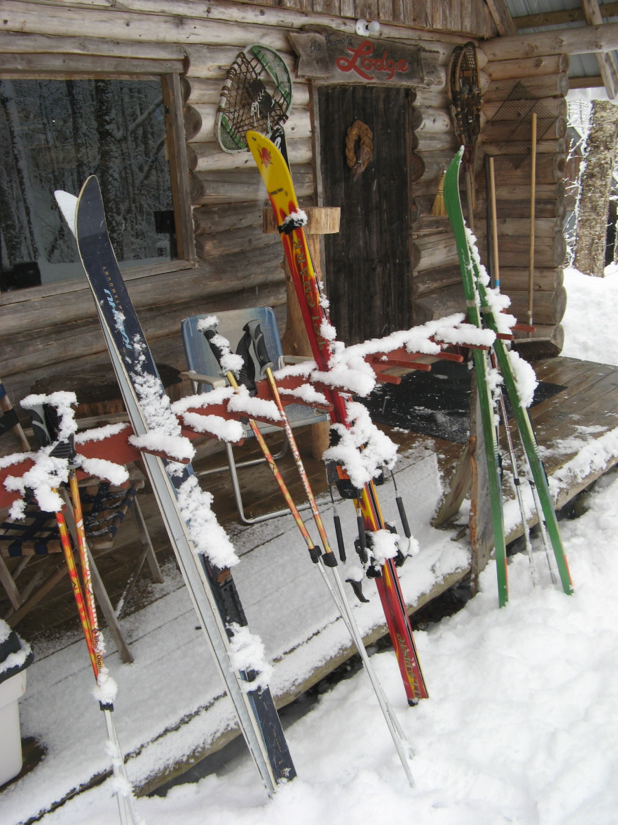 Skiis in Rack