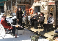 Spring skiing lunch.